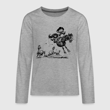 Thelwell 'Cowboy Western riding' - Teenagers' Premium Longsleeve Shirt