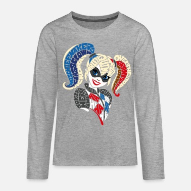 DC Super Hero Girls Harley Quinn Typographie - T-shirt manches longues Premium Ado