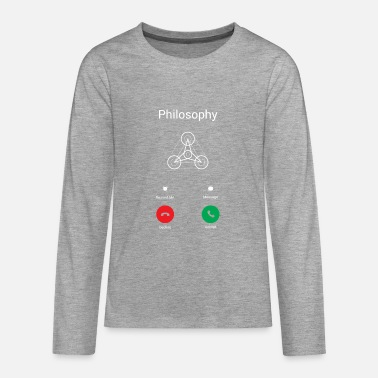 Philosophy The philosophy calls - Teenagers' Premium Longsleeve Shirt