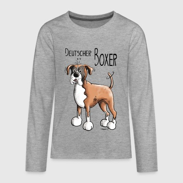 Deutscher Boxer - Teenager Premium Langarmshirt