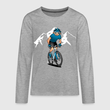 MTB - Mountain biker in the mountains - Teenagers' Premium Longsleeve Shirt