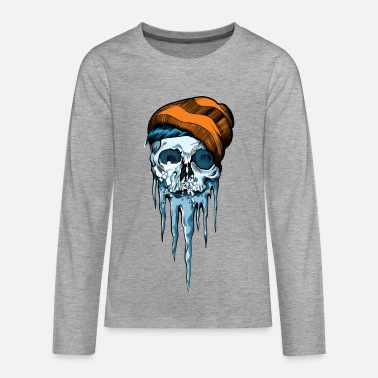 Snow Skull - Teenagers' Premium Longsleeve Shirt