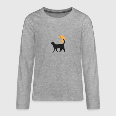Kitty And The Moon - Teenagers' Premium Longsleeve Shirt