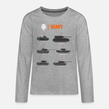 World of Tanks Heavy - Camiseta de manga larga premium adolescente