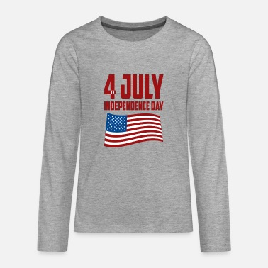 Independence day 4th of June - Teenage Premium Longsleeve Shirt