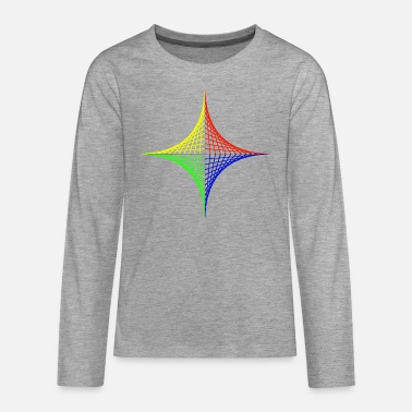 Geometric design Color intensive - Teenage Premium Longsleeve Shirt