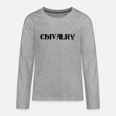 Orders Of Chivalry Black Chivalry - Teenage Premium Longsleeve Shirt
