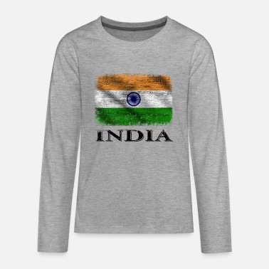 India India Flag, India - Teenage Premium Longsleeve Shirt