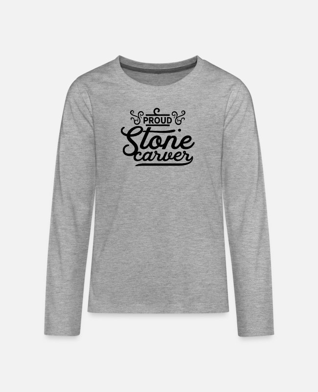 Occupation Long-Sleeved Shirts - Carving stone - Teenage Premium Longsleeve Shirt heather grey