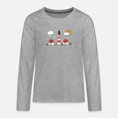 Westerhever lighthouse drawing - Teenage Premium Longsleeve Shirt