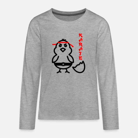 Karate Long sleeve shirts - karate - Teenage Premium Longsleeve Shirt heather grey