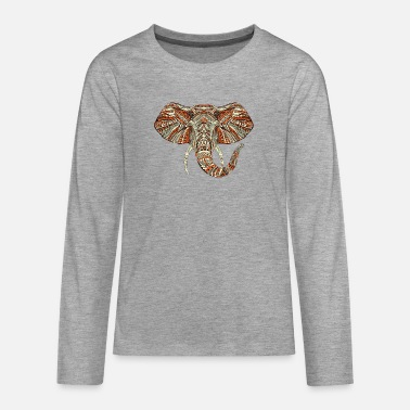 Design elefant - Premium langærmet T-shirt teenager