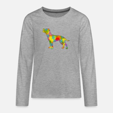 Staff Staffie Multicolore - T-shirt manches longues premium Ado