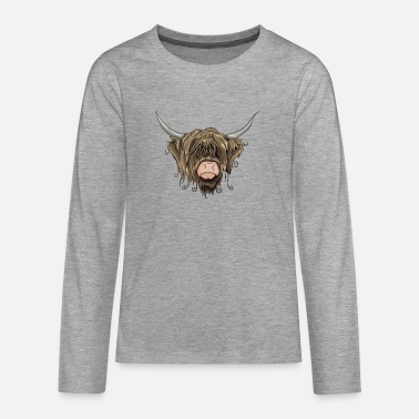 Cow Highland Cow - Teenage Premium Longsleeve Shirt