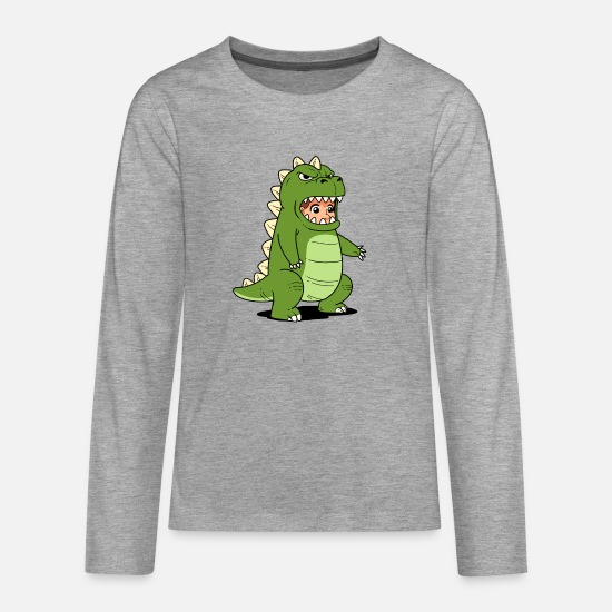 Birthday Long sleeve shirts - kidzilla - Teenage Premium Longsleeve Shirt heather grey
