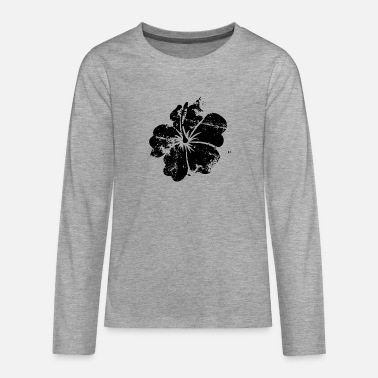 Flower - Hawaii - Vintage - Teenage Premium Longsleeve Shirt