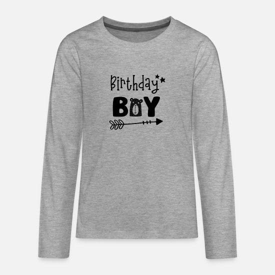 Birthday Long sleeve shirts - Birthday Boy - Boys Birthday Birthday Party - Teenage Premium Longsleeve Shirt heather grey