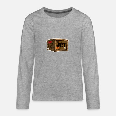 Kist Jet cartoon houten kist - Teenager Premium shirt met lange mouwen