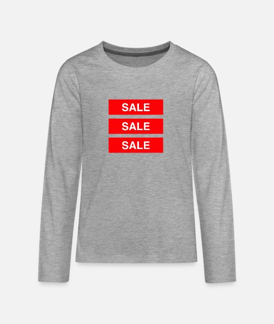 Sale Long-Sleeved Shirts - Sale Sale Sale - Coloured - Teenage Premium Longsleeve Shirt heather grey