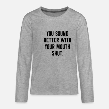 Provocation Provocation provocative Funny saying - Teenage Premium Longsleeve Shirt