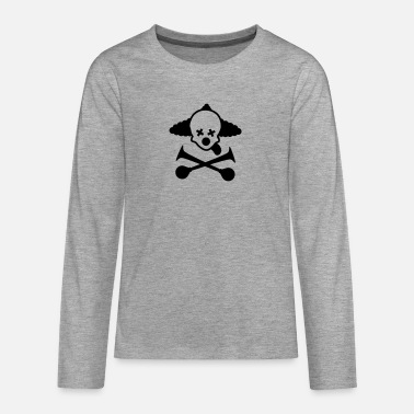 totenkopf clown - Teenager Premium Langarmshirt