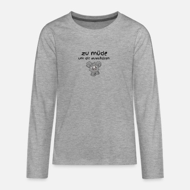 Best In Class too tired to listen to you class best - Teenage Premium Longsleeve Shirt