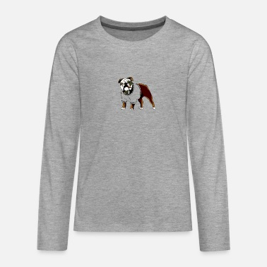 funny dog smoking cigar - Teenager Premium Langarmshirt