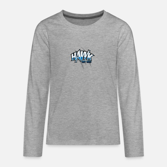 Hawk Long Sleeve Shirts - Hawk Hawk - Teenage Premium Longsleeve Shirt heather grey