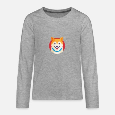 Dog dog head gift idea - Teenage Premium Longsleeve Shirt