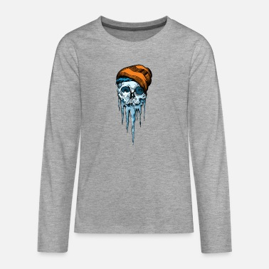 Winter Snow Skull - Teenager Premium Langarmshirt