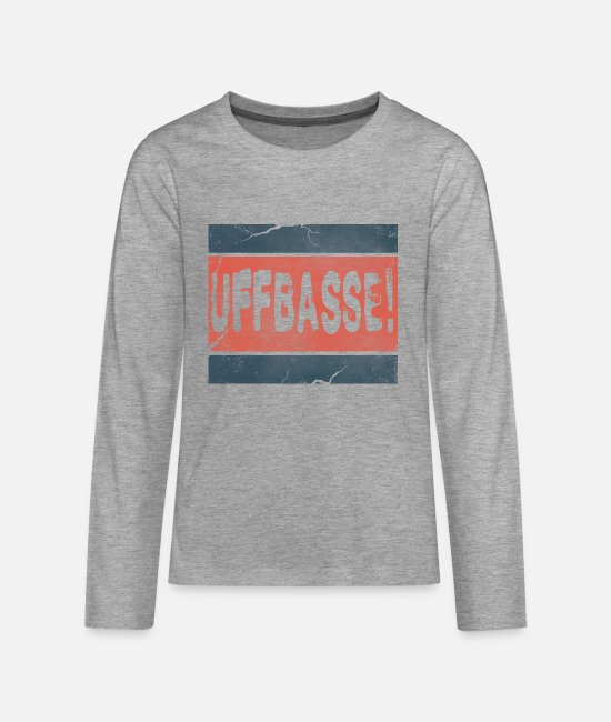 Rhineland-Palatinate Long-Sleeved Shirts - Uffbasse Palatinate Palatinate - Teenage Premium Longsleeve Shirt heather grey