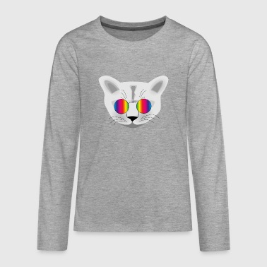 Hippie Cat - Teenager Premium Langarmshirt