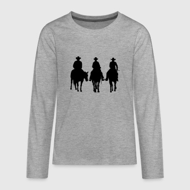 Trio - Western riding - Teenagers' Premium Longsleeve Shirt