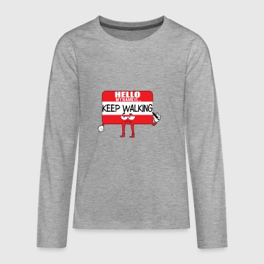Comic Hello Name - Teenagers' Premium Longsleeve Shirt