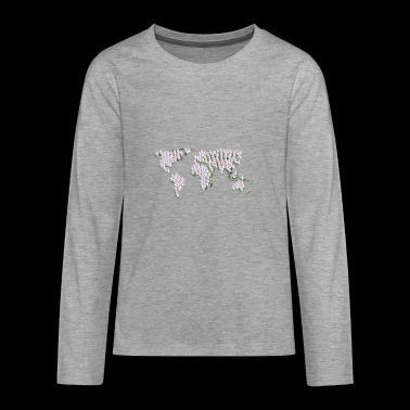 Unicorn map - Teenagers' Premium Longsleeve Shirt