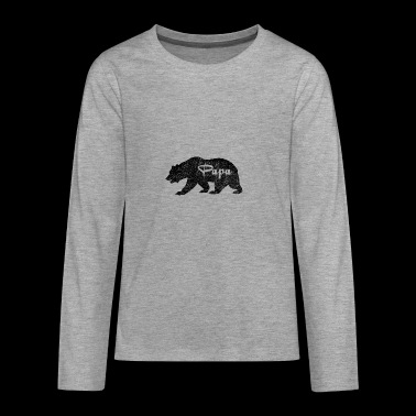 Papa Bear Camping Wildlife Gifts for dads. SALE - Teenagers' Premium Longsleeve Shirt