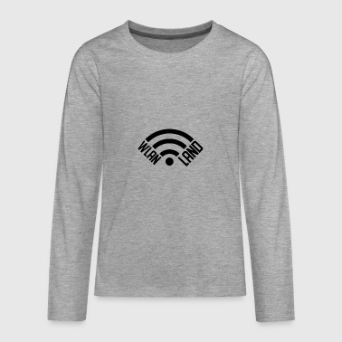 Wlan Land Logo 1 - Teenager Premium Langarmshirt