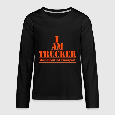 Trucker Transport - Teenager Premium Langarmshirt