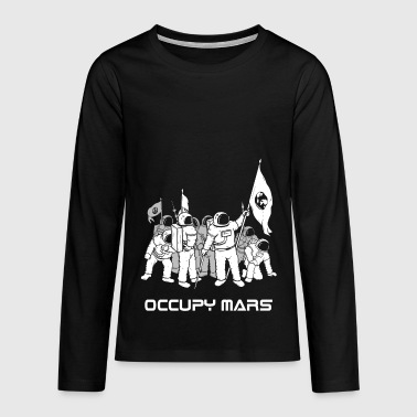 Occupy Mars Exploration astronaute Voyage T-shirt - T-shirt manches longues Premium Ado