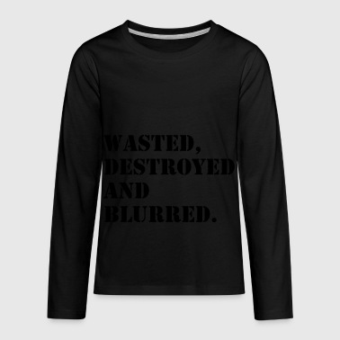 W'sted, destroyed and blurred - Teenager Premium Langarmshirt