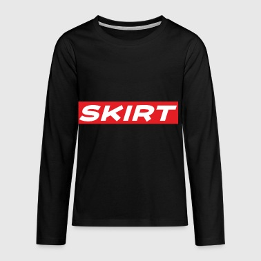 SKIRT-SHIRT - Teenager premium T-shirt med lange ærmer