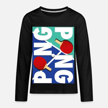 Sport Ping Pong Racket Sports design - T-shirt manches longues premium Ado