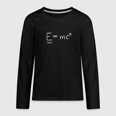Rubik's E = mc - Teenagers' Premium Longsleeve Shirt