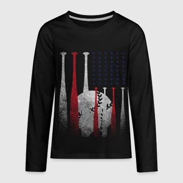baseball - Teenagers' Premium Longsleeve Shirt