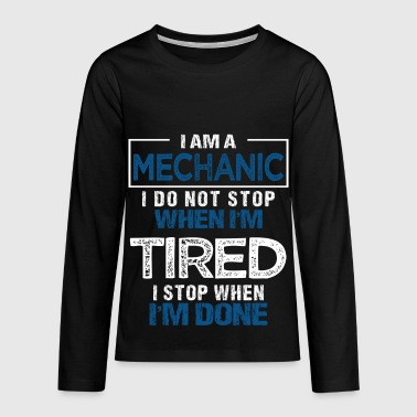 Mechanic Gift Mechanic Mechanic Car - Teenagers' Premium Longsleeve Shirt