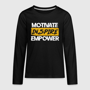 motivation - T-shirt manches longues Premium Ado