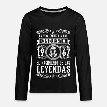 1967 - 50 años - Leyendas - 2017 Camiseta adolescente  6662dcf565dd1