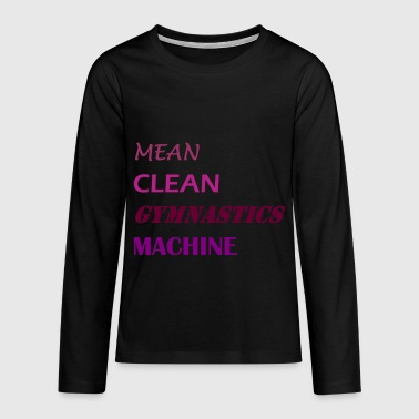 Mean Clean Gymnastics Machine - Purple - Teenagers' Premium Longsleeve Shirt