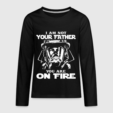 Fire fireman firefighter wife gift - Teenagers' Premium Longsleeve Shirt