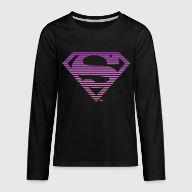 DC Comics Superman Classic Logo Striped - Teenager Premium shirt met lange mouwen
